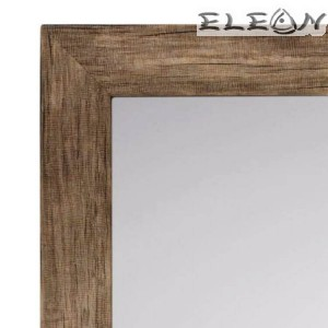 Огледало за стена 52х62см, Дървена рамка, Вертикален и хоризонтален монтаж, Кафяво