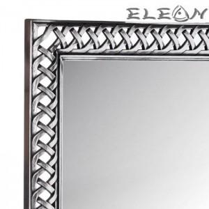 Огледало за стена 50х60см, Плетена шарка, Ковано желязо ефект, Модерен стил, Сребро