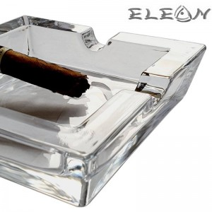 Кристален пепелник за пури, четворен, 15х15см, AK421020