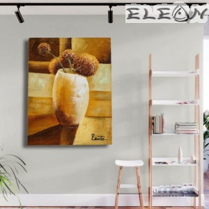 Маслена Картина за Стена, Ваза с Цветя 30, 35х45см, Маслени бои, Ръчно рисувана, Лорета Арт
