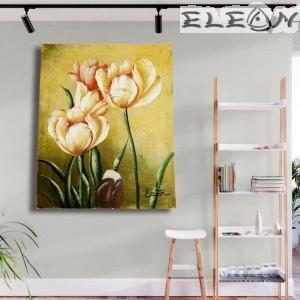 Картина за стена с маслени бои - Лалета, 45х55см, Цветя 04, Авторска, Лорета Арт