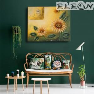 Ръчно Рисувана Картина Слънчогледи, 55х45см, Цветя 29, Маслени бои, Лорета Арт