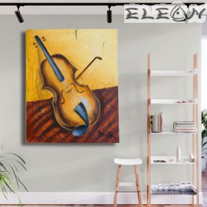 Картина за музиканти - Цигулка, 45х55см, Музика 46, Авторска, Лорета Арт