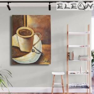 Картина за стена с маслени бои - Кафенето 12, 60х50см, Авторска, Лорета Арт