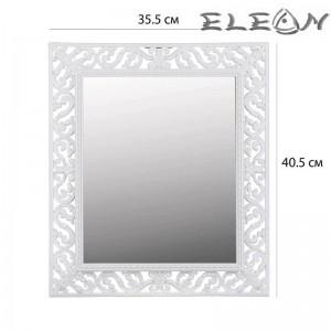 Огледало за стена с бяла антична рамка, 35х40см
