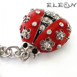 Ключодържател Червена Калинка на цветя с 26 циркона, Primus 27381