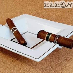Пепелник за Пури изработен от бял порцелан, двоен пепелник, 19*19 см, Primus 009584