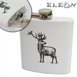 Подарък за ловец, джобна бутилка за алкохол 180ml, манерка с елен, Primus 022242