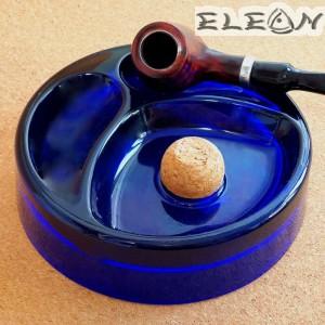 Пепелник за Лула, 2 слота за лули, Ø 17 см, стъкло, син, Primus 034136