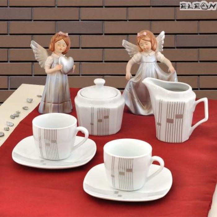 сервиз за Кафе 15 части - Silver Line