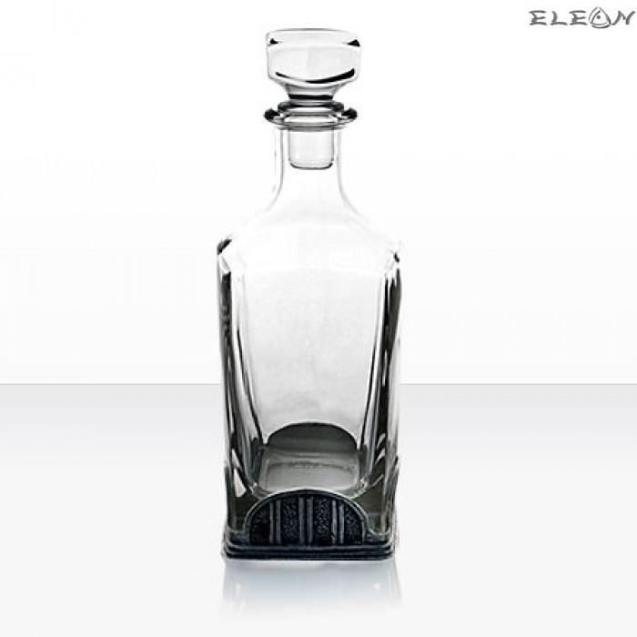 Кристална Бутилка за Уиски 700мл с метален обков