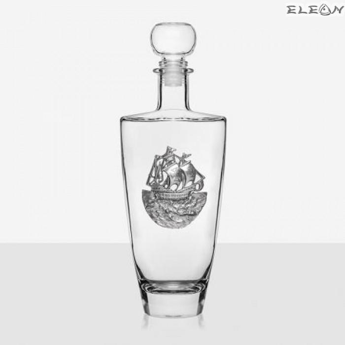 Кристална Бутилка за уиски - кораб