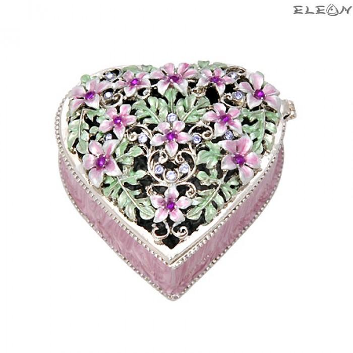 Кутия за бижута сърце светла JN0404