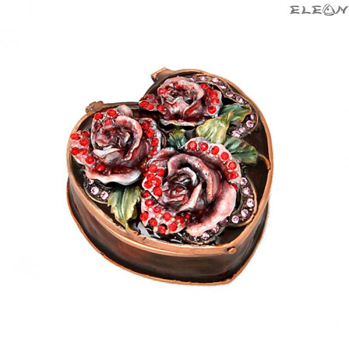 Кутия за бижута роза кафява JN0501