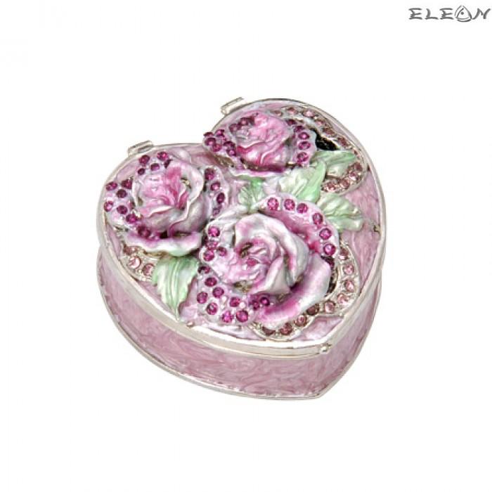 Кутия за бижута роза пурпур JN0503