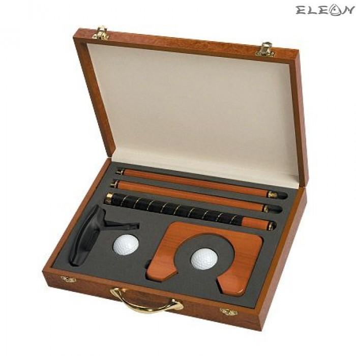 Комплект за мини голф в луксозна дървена кутия - Vertini