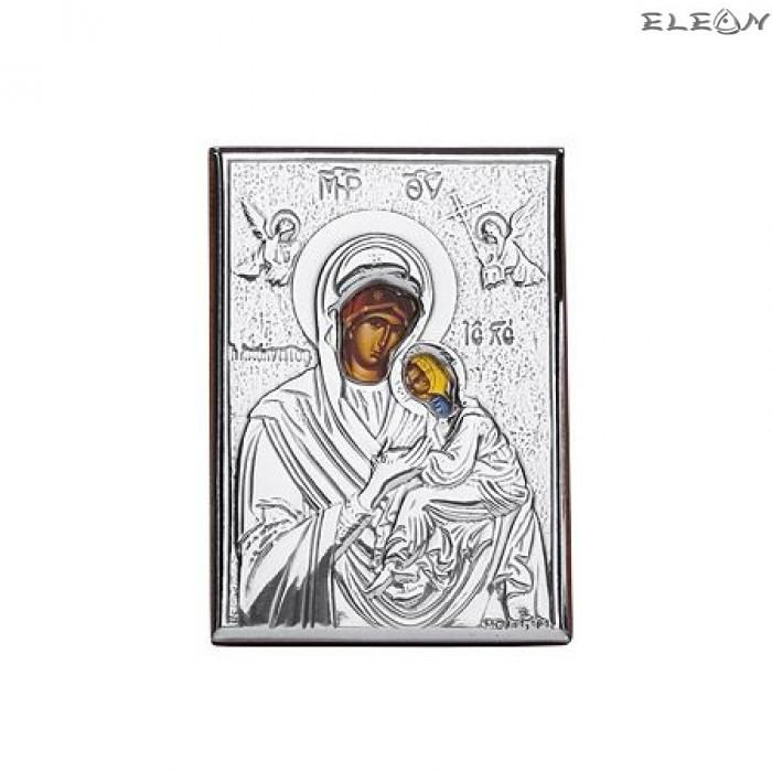 Сребърна Икона - Дева Мария с младенеца RG6474
