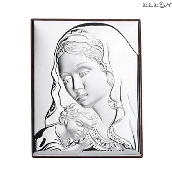 Сребърна Икона - Дева Мария с младенеца RG6601