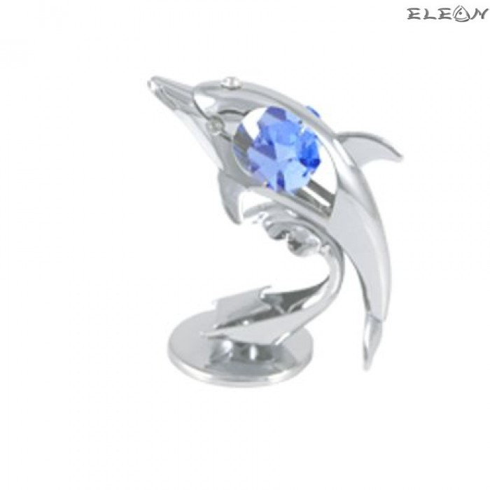 Crystocraft Делфин сребро - Swarovski Crystal RY013