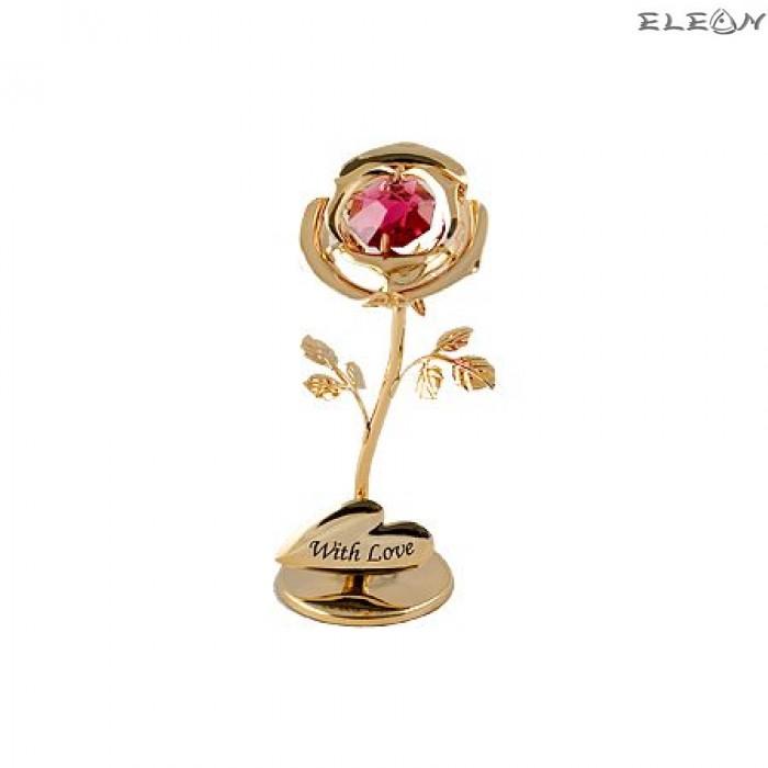 Crystocraft Роза златна - Swarovski Crystal RY054