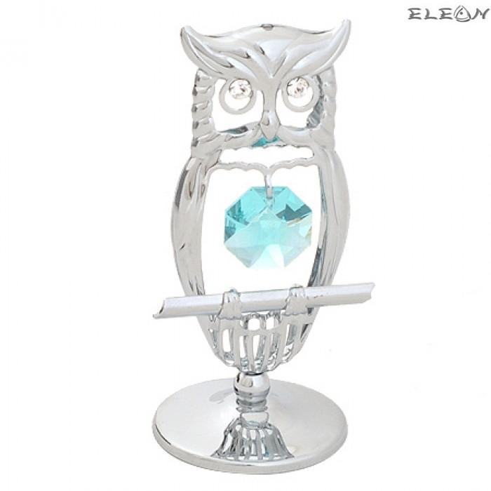 Crystocraft Бухал сребро - Swarovski Crystal RY074