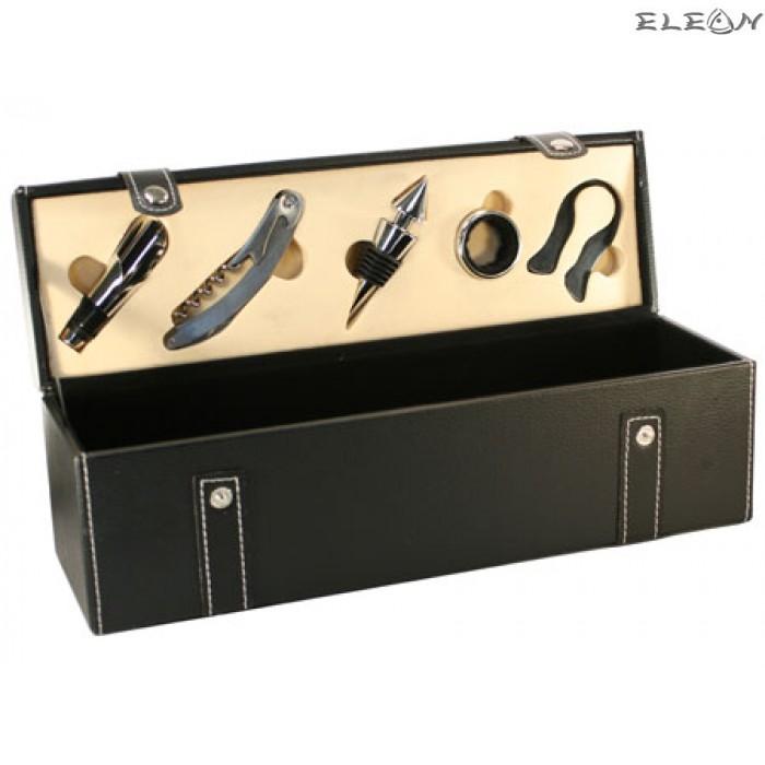 Стилна кожена Кутия за вино - 7173