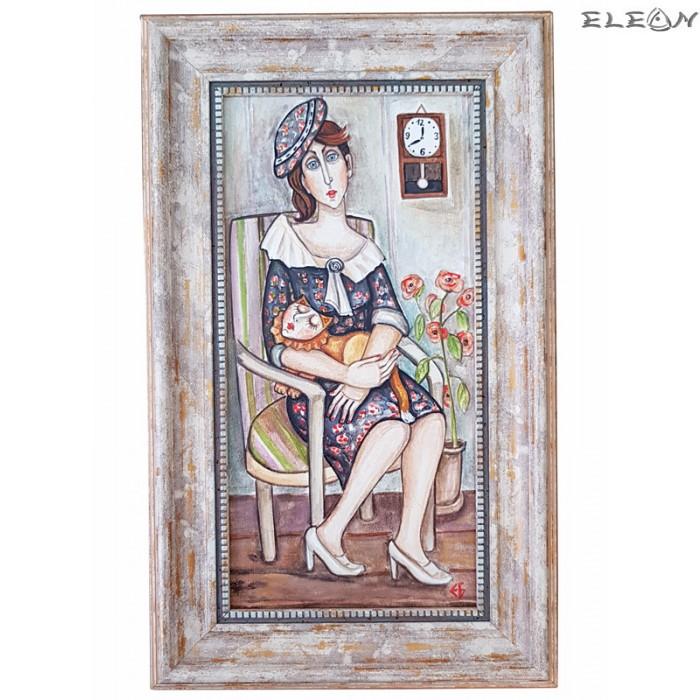 авторска картина - Дама с котарак