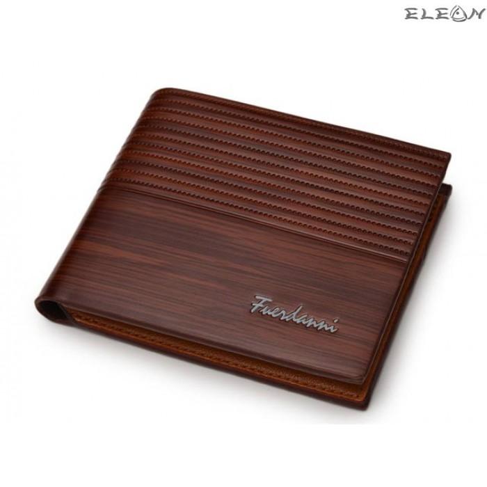 Мъжки портфейл от еко кожа - lux brown