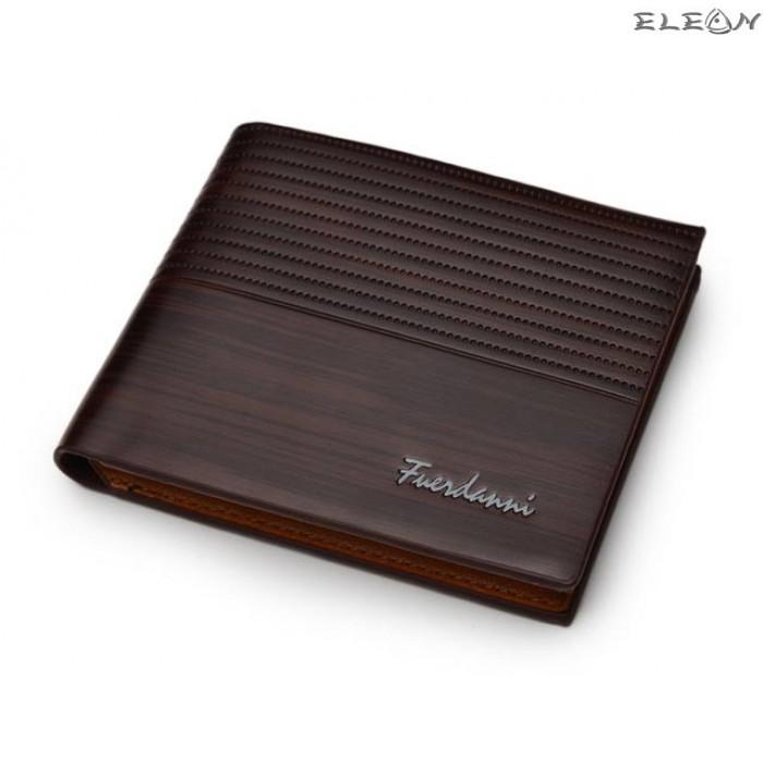 Мъжки портфейл от еко кожа - lux chocolate