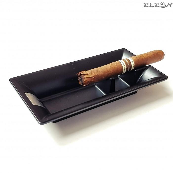 Пепелник за пури, единичен, черен, метален пепелник