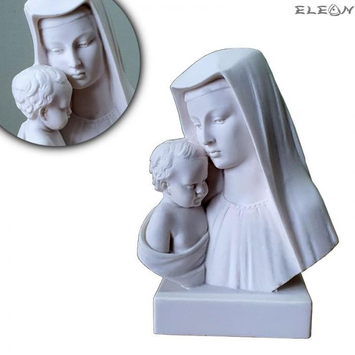Статуетка от алабастър, ДЕВА МАРИЯ с младенеца