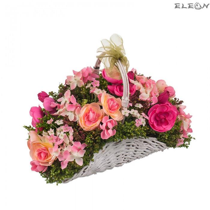 Аранжировка Декоративни Цветя DEL186, кошница микс цветя