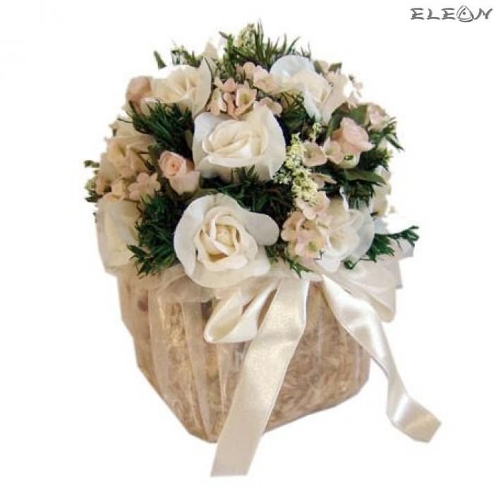 Аранжировка Декоративни Цветя DEL20, бели рози