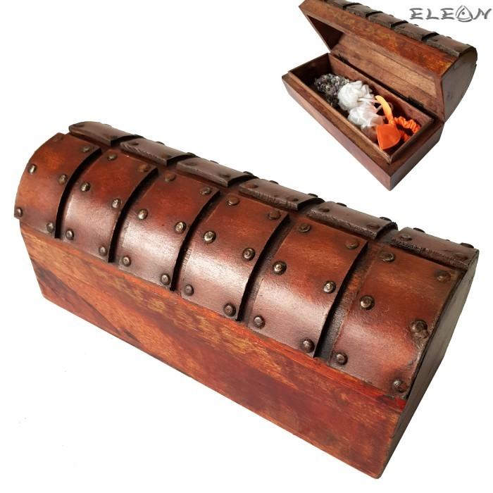 Дървена кутия за бижута и аксесоари, антично излъчване, кутия за моливи 25х10см, HI2648g