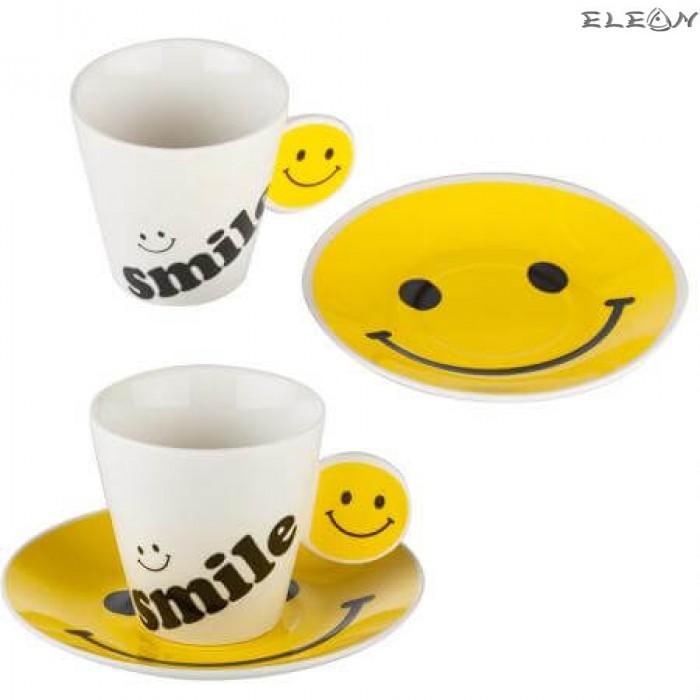 сервиз за кафе с 2 чаши и 2 чинийки
