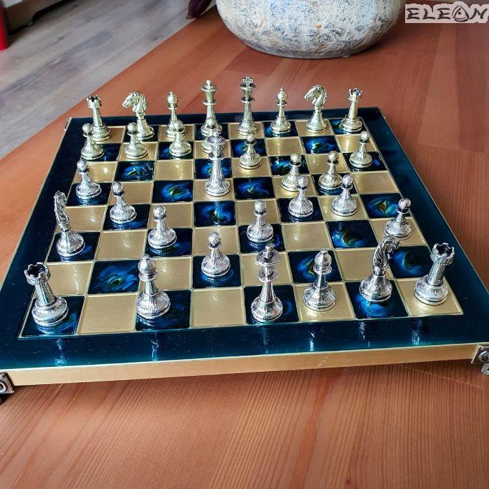 VIP Шах с месингови фигури