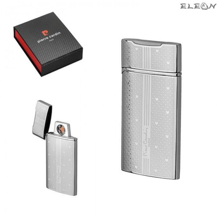 Запалка със сърца, USB зареждане, сива