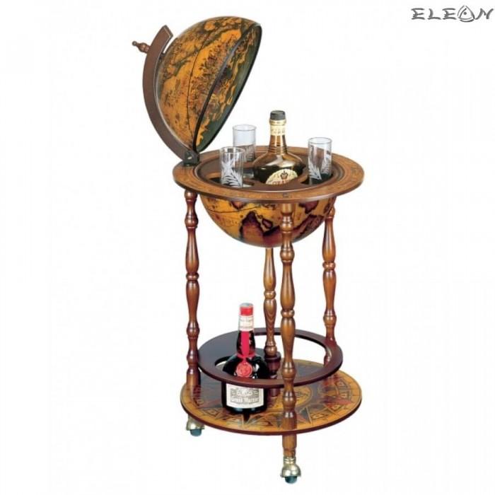 Античен глобус бар за алкохол, в италиански стил