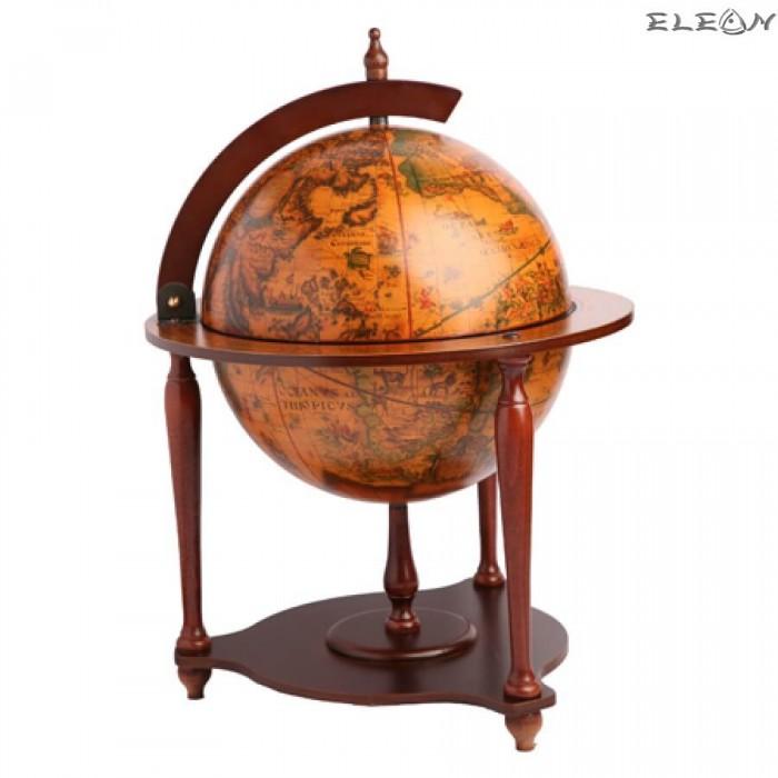 Луксозен Бар глобус за офис, с отваряем капак