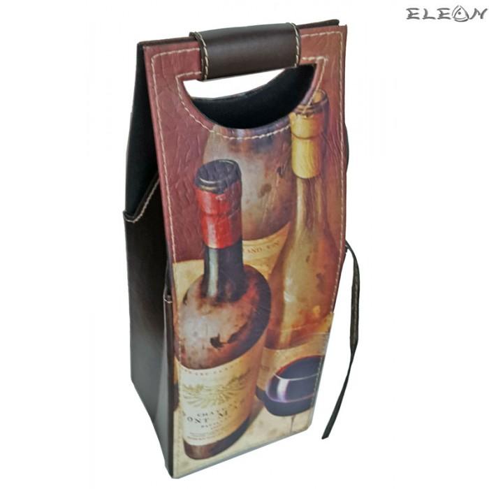 Подаръчна Кожена кутия за вино за 1 бутилка - SZ049271