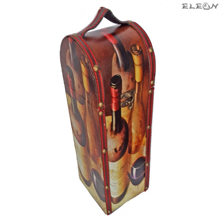 Дървена кутия за вино за 1 бутилка - SZ049612