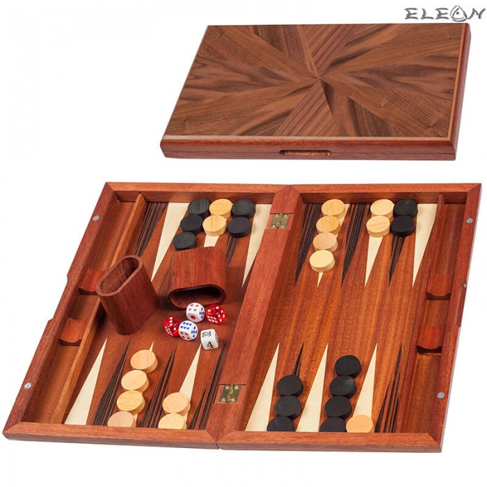 Табла за игра с цвят орех от МДФ - 48х28см