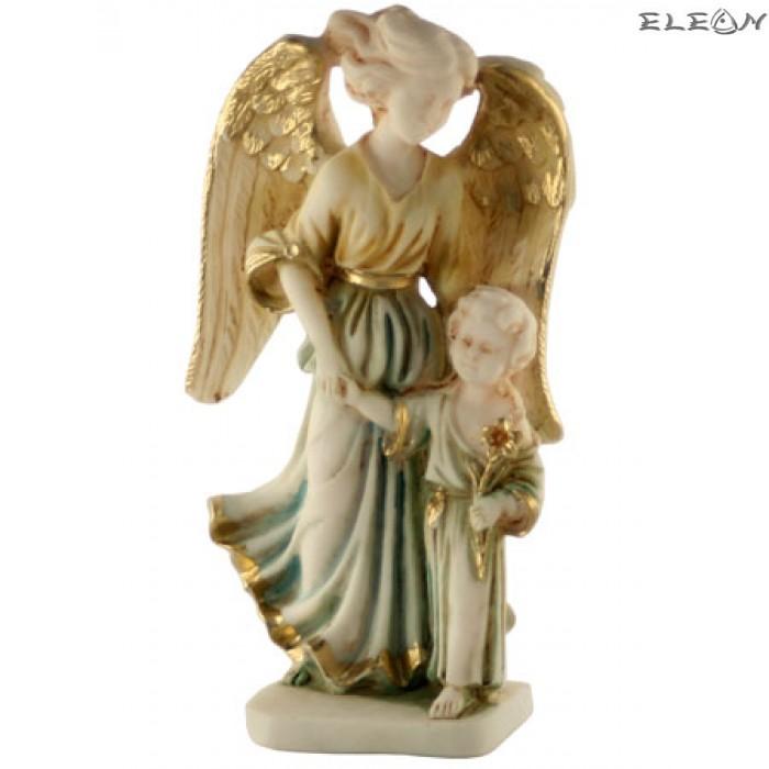 Статуетка от алабастър - АНГЕЛ с момиченце