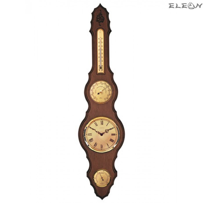 Часовник с метеостанция - барометър, хидрометър, термометър - 486812