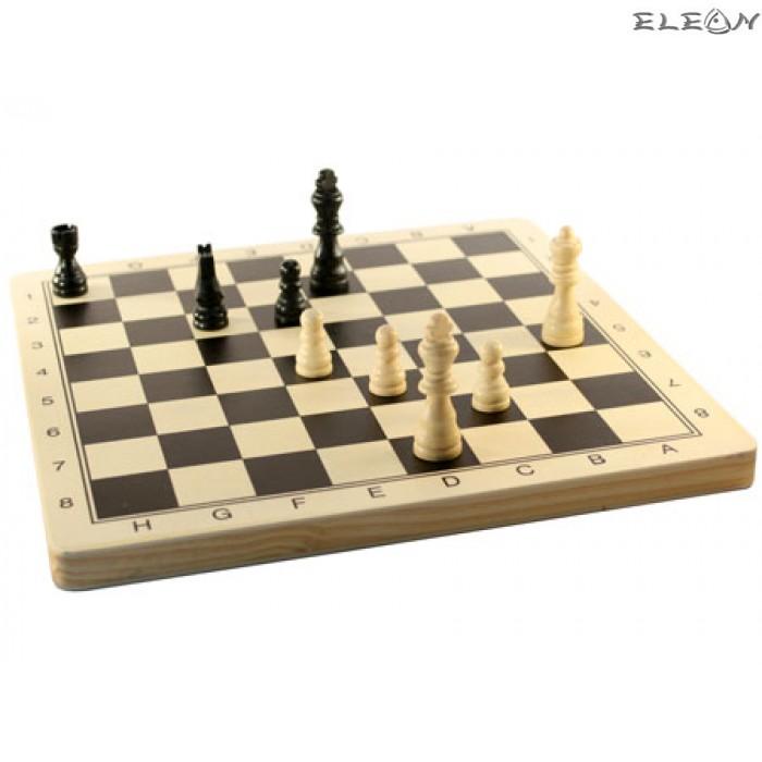 игра ШАХ с дървени фигури и дървена дъска - 8607013