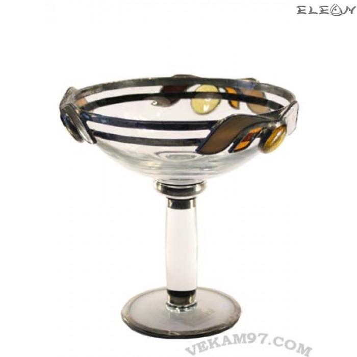 Стъклена Фруктиера със седеф - 19010