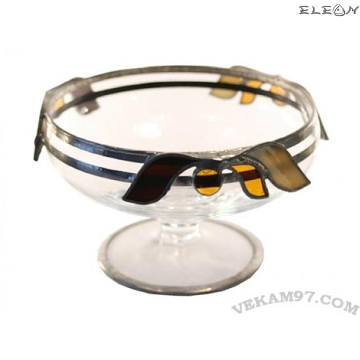 Стъклена Фруктиера със седеф - 19050