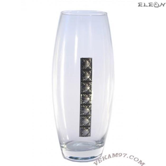 Стъклена Ваза Bohemia със сребро - 8011