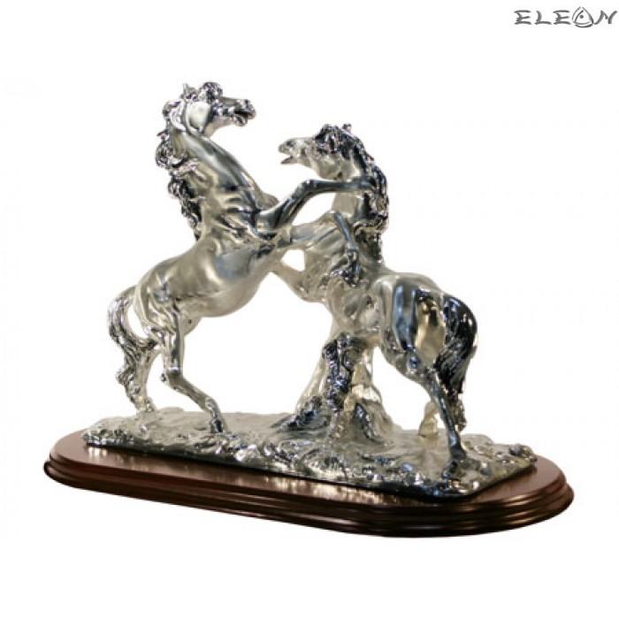 Сребърна статуетка - Двойка КОНЕ 7112