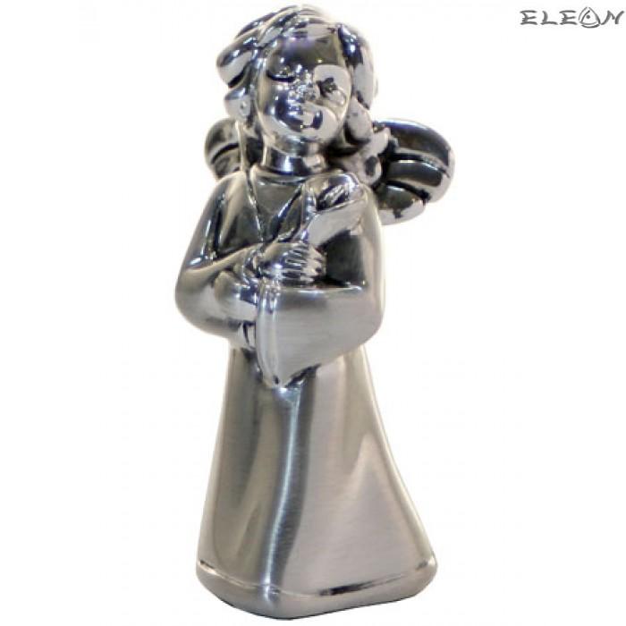 Сребърна фигурка - АНГЕЛ с цвете 7300